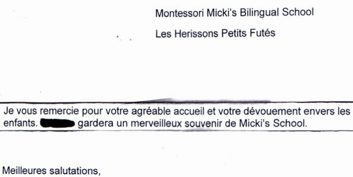 Micki's School - Ecole bilingue Lausanne