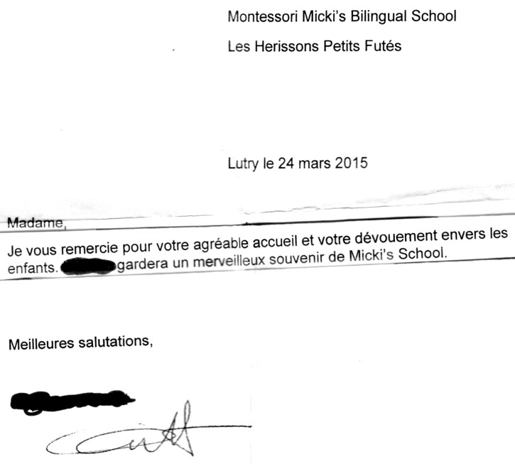 Ecole Montessori Lausanne - Témoignage de parents satisfaits